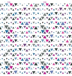 Seamless pattern of triangles pink and blue on vector image vector image