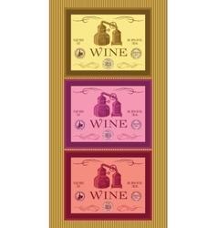 set of labels for bottles of wine or menu vector image vector image