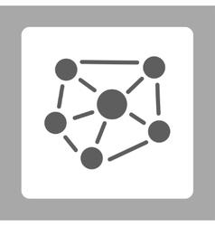 Social graph icon vector