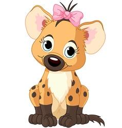 baby girl hyena vector image