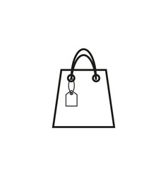 bag with sale icon vector image