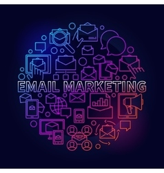 Colorful email marketing vector image
