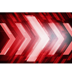 Red abstract technology arrows vector image vector image