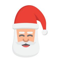 santa claus face flat icon new year and christmas vector image vector image
