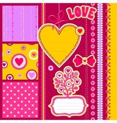scrap love vector image