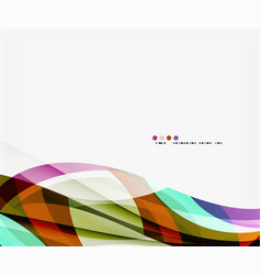 business wave corporate template vector image