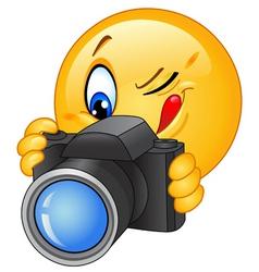 camera emoticon vector image