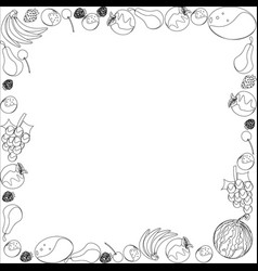 frame of different fruit vector image
