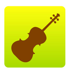 violine sign brown icon at vector image vector image