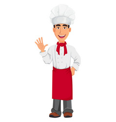 young professional chef vector image vector image