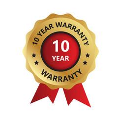 10 year warranty badge year warranty logo photo vector
