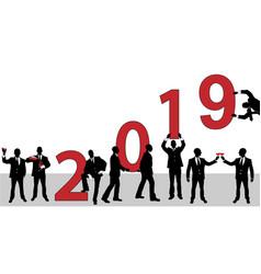 2019 happy new year businessman vector