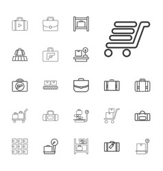 22 baggage icons vector
