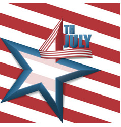 4th of july star background vector image
