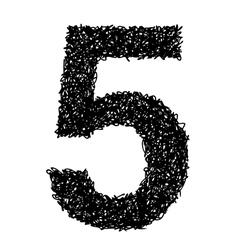alphabet 5 vector image