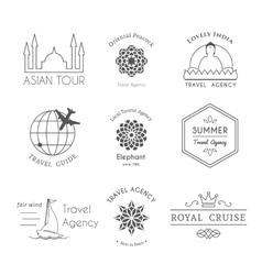 asian logo templates vector image