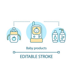 Baby products concept icon vector