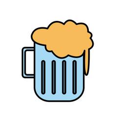 beer glass cup vector image
