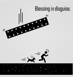 Blessing in disguise a motivational and vector