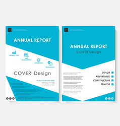 blue cover design template brochure vector image