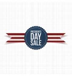 Blue Emblem with Presidents Day Sale Text vector