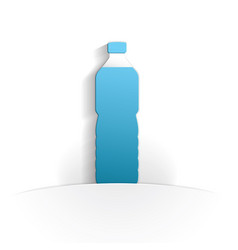 bottle icon paper vector image
