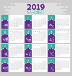 Calendar 2019 vector