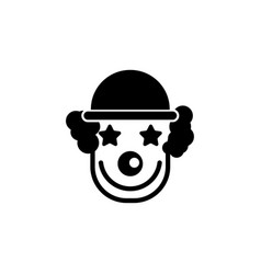 cheerful smiling clown flat icon vector image