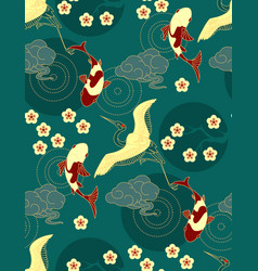 Chinese seamless pattern in traditional asian vector