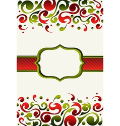 Christmas invitation background vector image