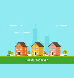 City downtown landscape vector