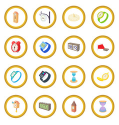 clock and watch icon circle vector image