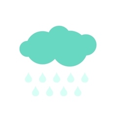 Cloud with drops ecology icon vector