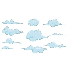 collection of cloud for you design vector image