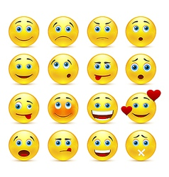 Collection smilies with different emotions vector