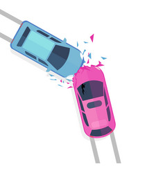 Concept of car accident top vector