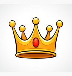 crown on white background vector image