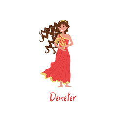 demeter olympian greek goddes ancient greece vector image