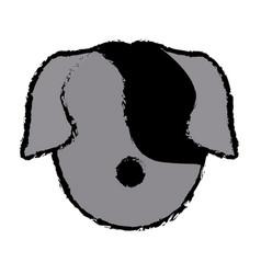 Dog face animal head pet domestic vector