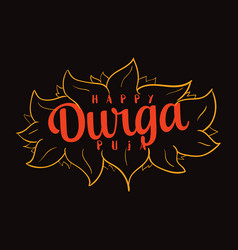 durga puja festival of india vector image