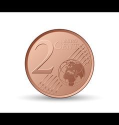 euro coin vector image