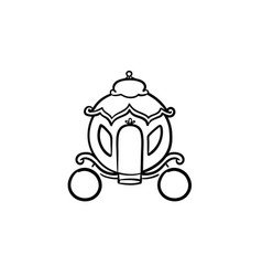 Fairytale carriage hand drawn sketch icon vector