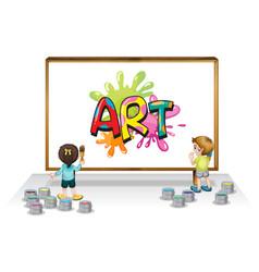 Font design for word art on whiteboard vector