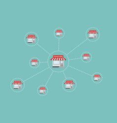 Franchise business concept vector