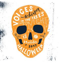 Halloween lettering in skull silhouette vector