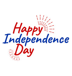 Happy 4 th july and independence day greeting vector