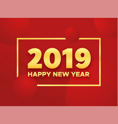 happy chinese new year 2019 pig vector image