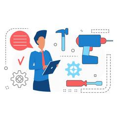 home repair service online man character vector image