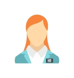 HR management icon flat style vector image