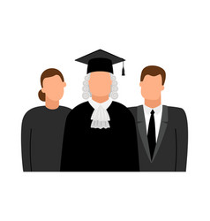 Judge lawyer and procurator icons vector